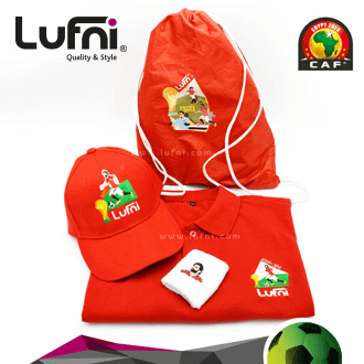 Hand Band, Polo shirt, cap, drawstring bag all embroidered or printed with your logo